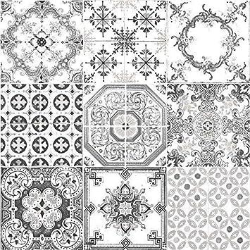Muriva Tapete Fliesen Muster Retro Floral Motiv Kuche Badezimmer