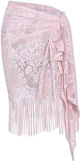Ladies' Beach Plain Sarong Tassels Bikini Cover Up Shawl Swimsuit Sunscreen Blouse Skirt BaojunHT®