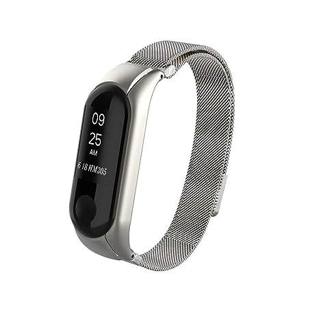 Kcdream Mi Band 3 Correa Metálica Acero Inoxidable Correa de La Muñeca de Metal Pulsera para Xiaomi Mi Banda 3 Smart Watch (No Tracker) (Oro Rosa, ...