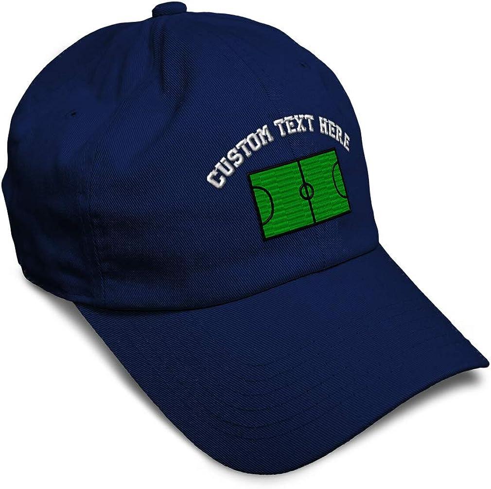 Custom Soft Baseball Cap Soccer Field A Embroidery Dad Hats for Men /& Women