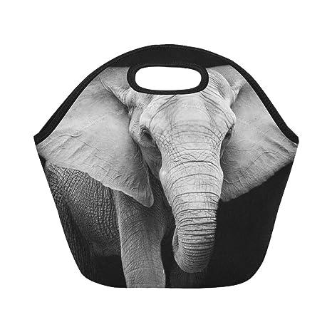 Bolsa de almuerzo de neopreno con aislamiento, elefante ...