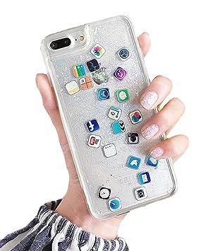 0e2f868916 iPhone 8 ケース キラキラ 創意 流れる ios icon APP Apple 図面 多彩な 液体 流動の