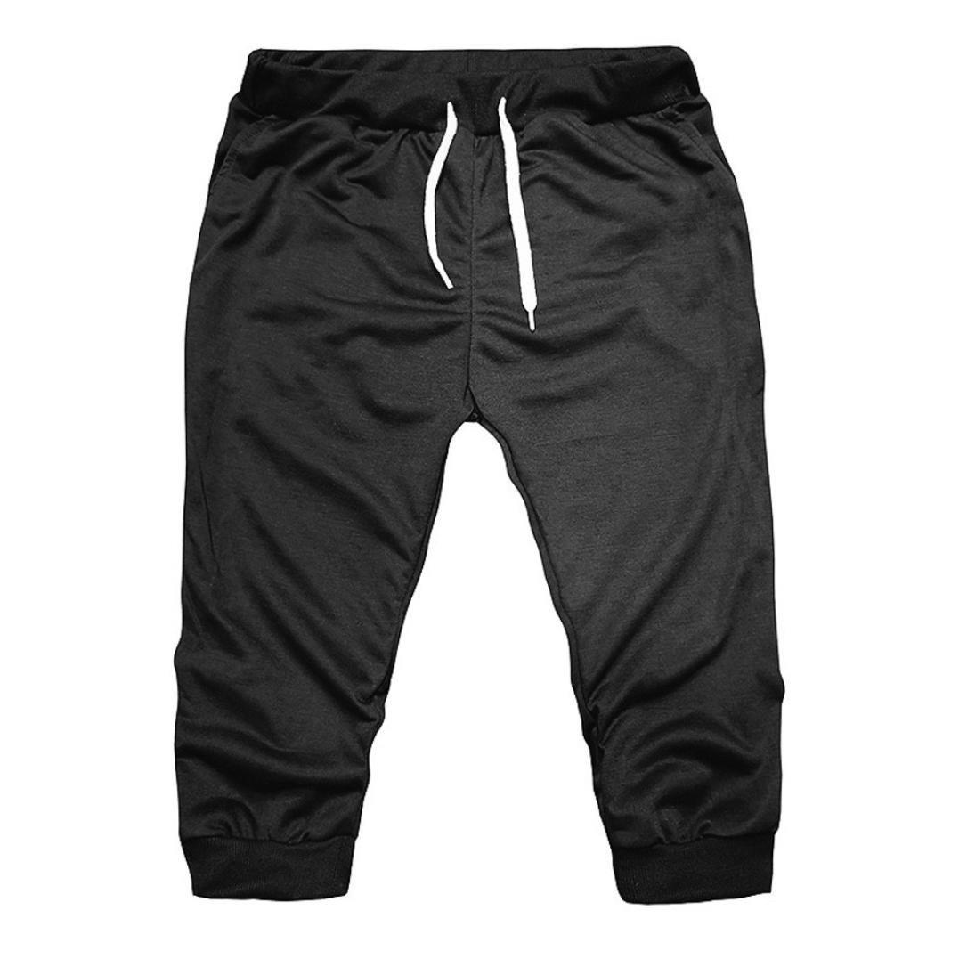 Alixyz Mens Performance Three-Quarter Jogger 3//4 Capri Pants