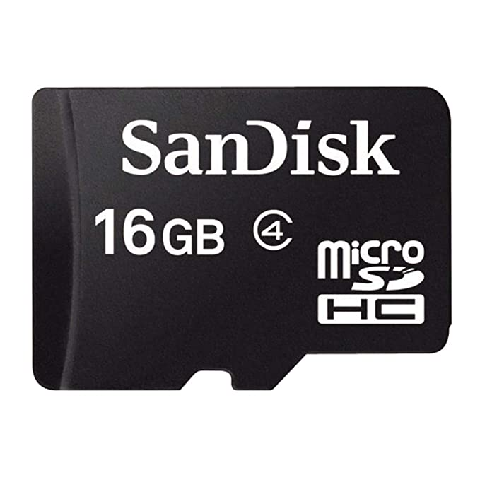 Sandisk SDSDQM-016G - B35A 16GB MicroSDHC Memory Card, Class 4 (RETAIL PACKAGE)