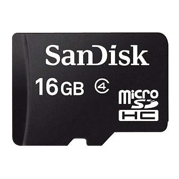 SanDisk SDSDQM-016G-B35A Tarjeta de memoria microSD de 16 GB, clase 4