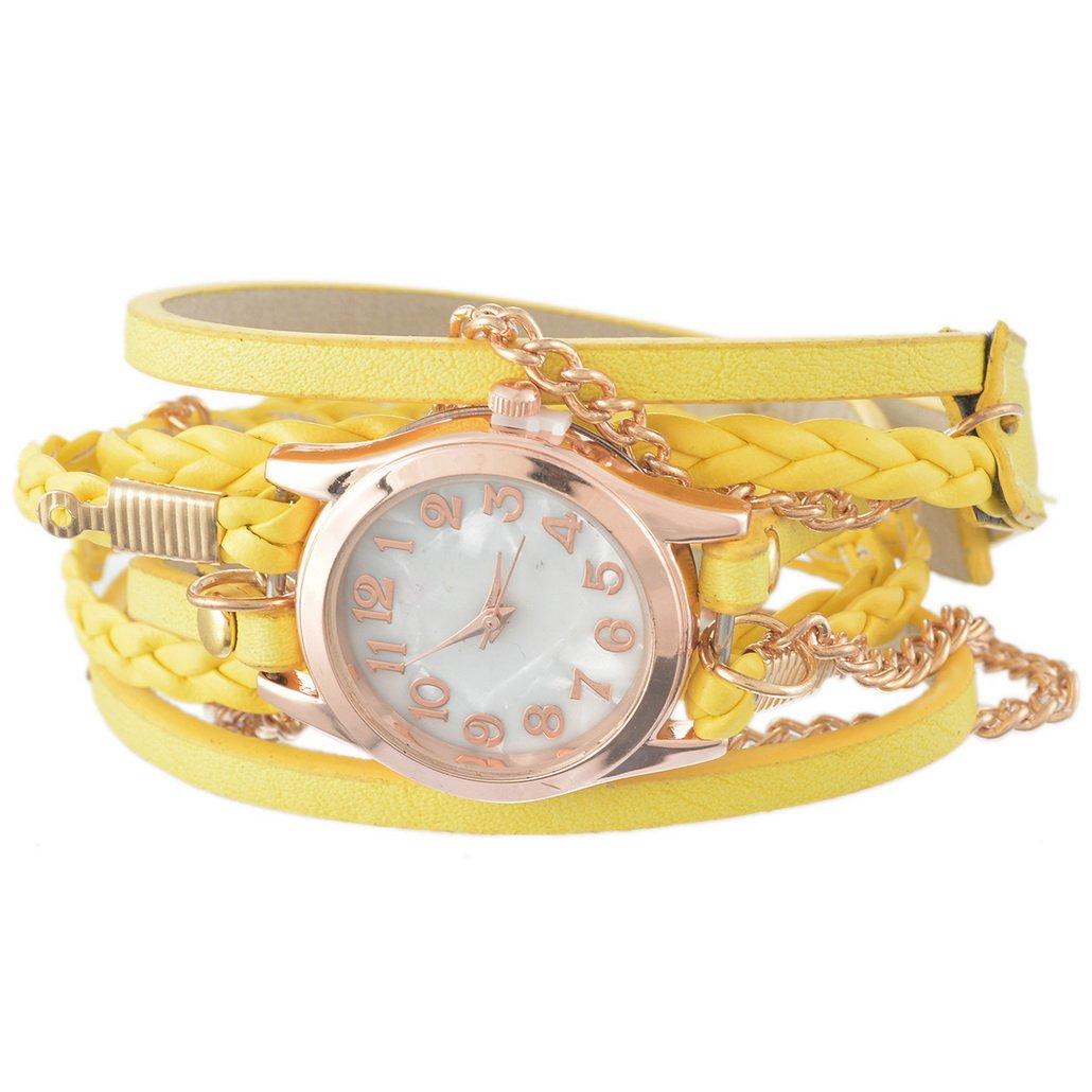 Leather Strap Rose Gold Bracel...