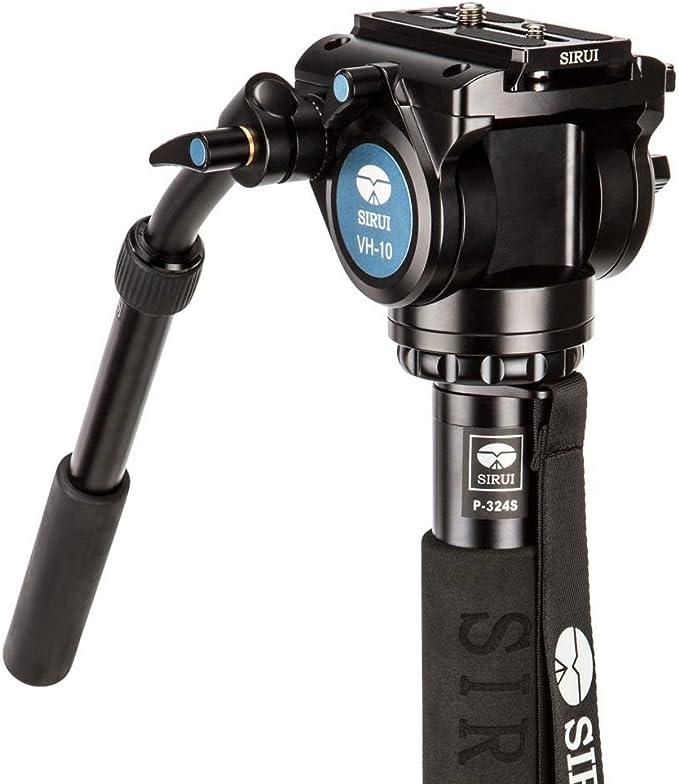 Sirui P 324sr Vh 10 Einbeinstativ Mit Standspinne Und Kamera