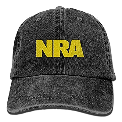 KWISISI NRA National Rifle Association Adult Embroidery Cowboy Hat Outdoor Sports Cap