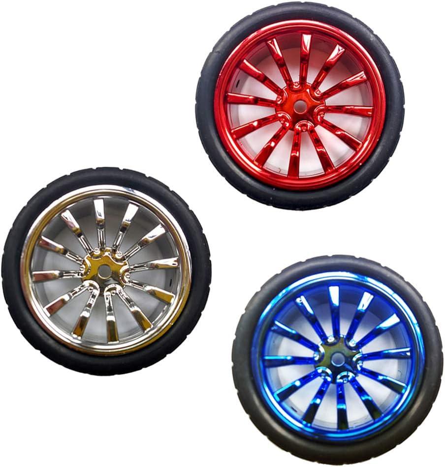 Blue 65mmx27mm DIY Robot Smart Car Rubber Tire Wheel,for Kids to Learn Robotics MagiDeal Starter Robot Kit