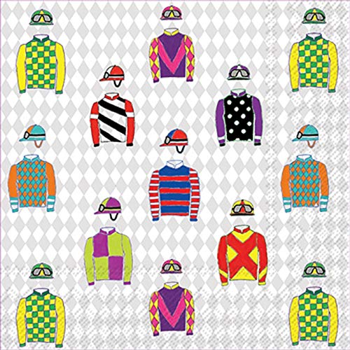 (Jockey Silks Cocktail Napkin)