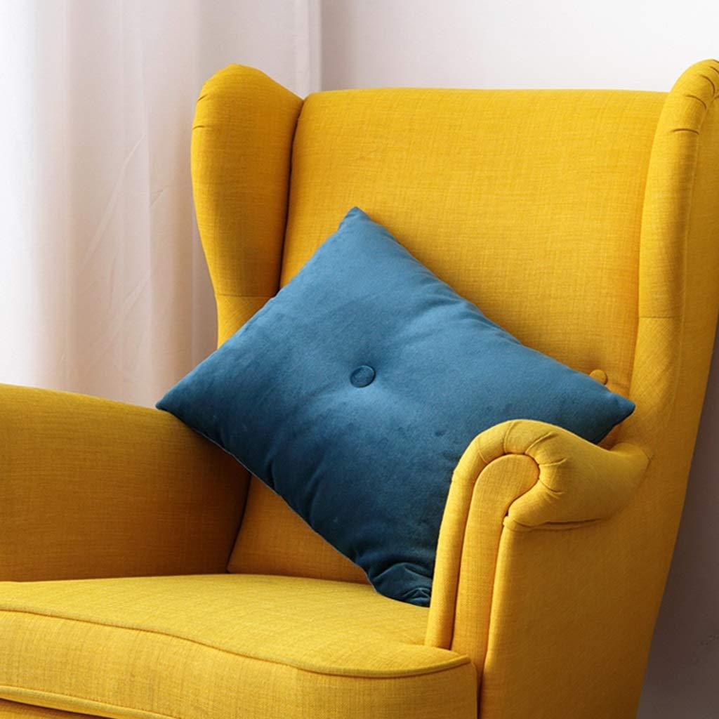 ZDNALS Rectangular Lumbar Pillow, Velvet Pillow Cushion, Solid Color Core Pillow 60cm×40cm Pillow (Color : E) by ZDNALS