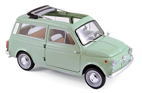 Amazon Com Fiat 500 Giardiniera Light Green 1962 Model Car