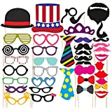 SYGA Party Props Props Craft Party Item, Multi Colour (Set of 40)