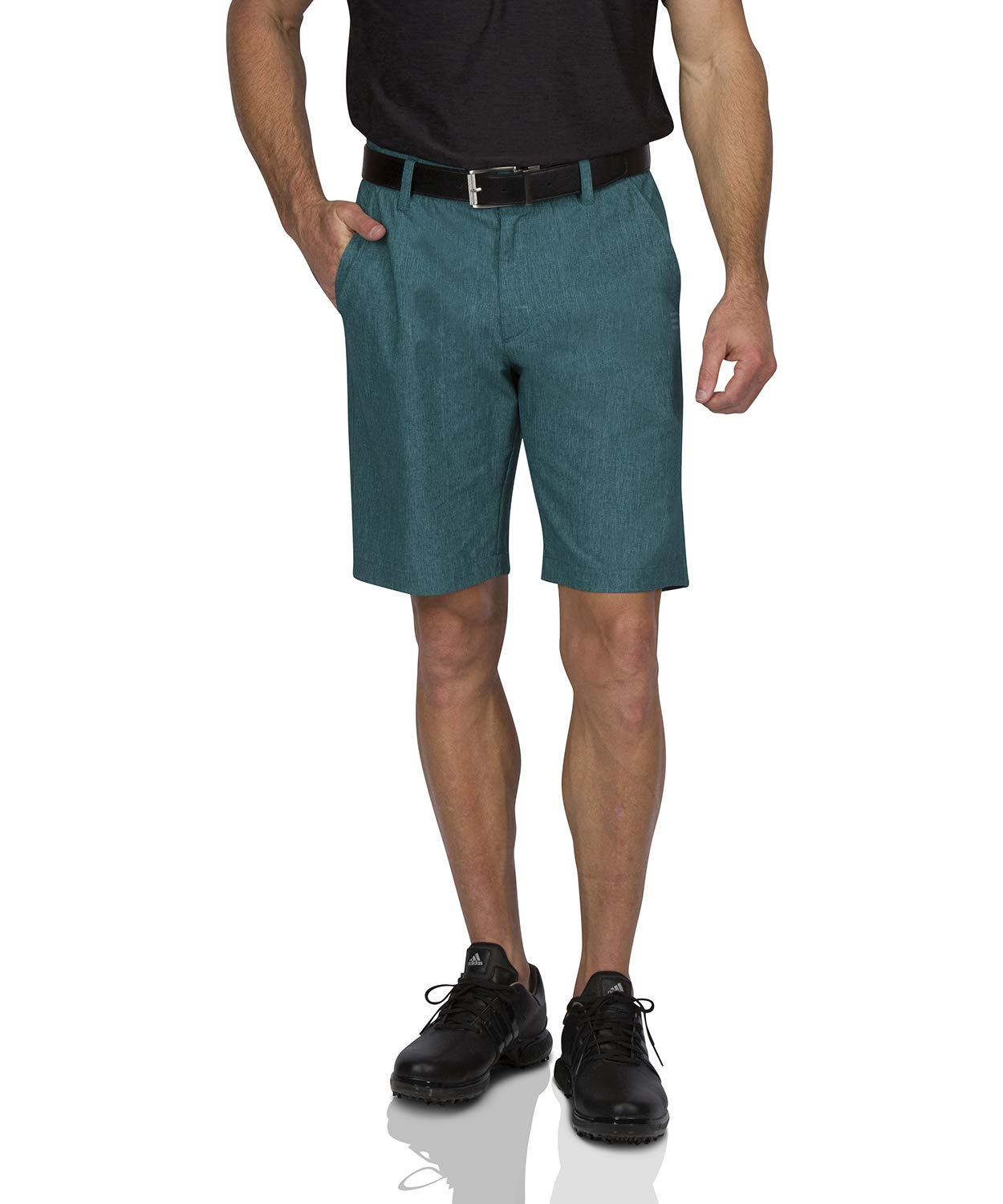 Dry Fit Golf Shorts for Men - Casual Mens Shorts Moisture Wicking - Men's Chino Shorts with Elastic Waistband Deep Teal by Three Sixty Six