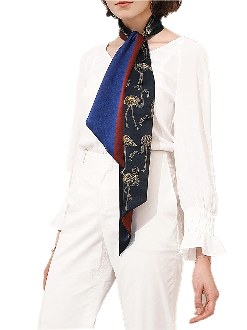 Prettystern Damen Seide Krawatten-schal Skinny Scarf