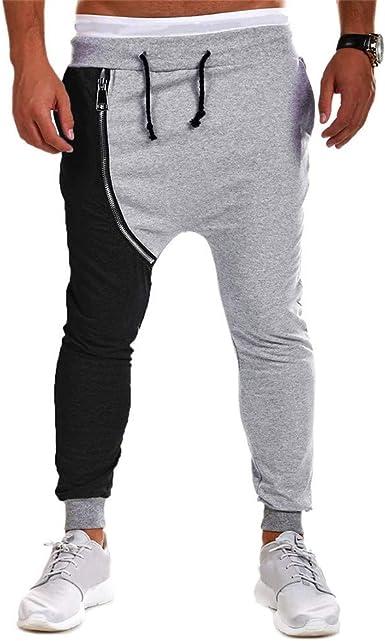 LANSKIRT_Pantalones Pantalones de Deporte Hombre Hip Hop con ...