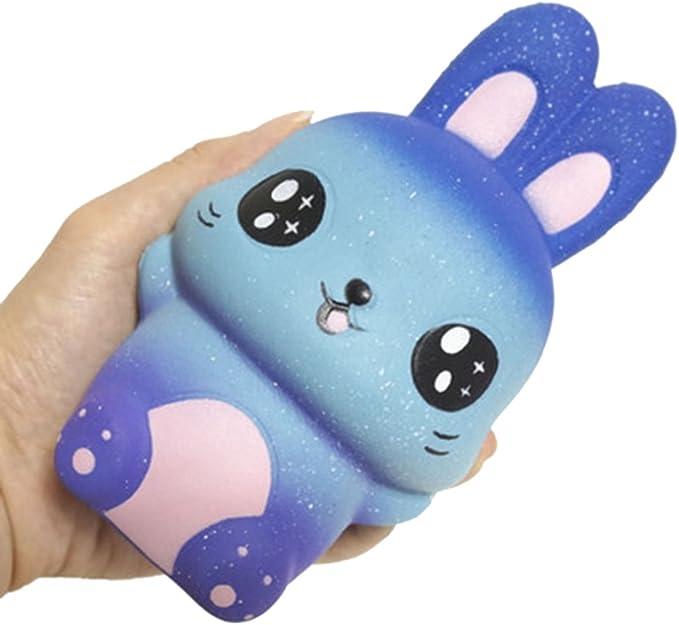 WE-WHLL New Starry Sky Rabbit Jumbo Squishy Aumento Lento Spremere Giocattoli per Bambini Antistress