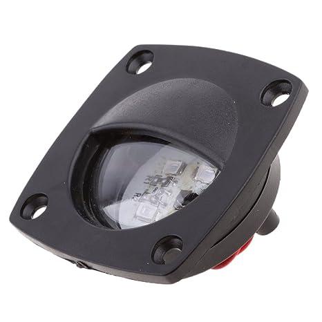 Sharplace LED Bombilla de Techo Lámpara de Cortesía para Barco Marino Autocaravana - Negro