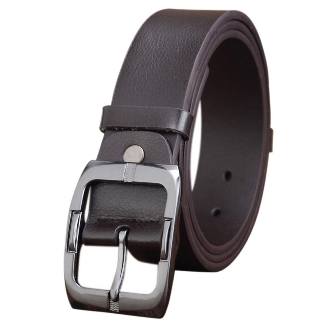 89LOOK-Belt Belt for Mens Mens Casual Waistband Leather Automatic Buckle Belt Waist Strap Beltss (Coffee)