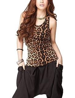 ee0436db149009 Ambiance Apparel Plus Size Leopard Print Spaghetti Strap Tank Top at ...