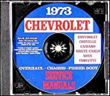 1973 CHEVROLET CAMARO REPAIR SHOP & SERVICE MANUAL On CD-ROM COVERS: all 1973 Chevy Camaro Base, RS, LT, and Z-28