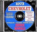 1973 CHEVROLET CAMARO FACTORY REPAIR SHOP & SERVICE MANUAL CD - Z/28, LT, Standard, Coupe, Convetible. 73