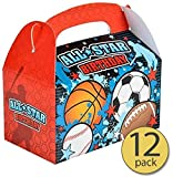 Set of 12 - All Star Sports Treat Box - All Star Sports Party Supplies - Bulk Pack