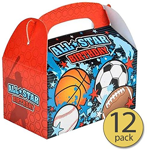 All Star Sports Toy Box - Set of 12 - All Star Sports Treat Box - All Star Sports Party Supplies - Bulk Pack