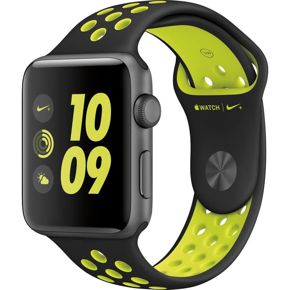 Apple Watch Series 2 Nike+ 38mm Smartwatch (Space Grey Aluminum Case, Volt Sport Band)