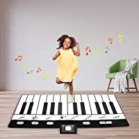 """Costzon Keyboard Playmat, 24 Keys Electric Piano Play Mat, 71""""×29.5"""" Foldable Activity Mat,8 Selectable Musical Instruments w/Record, Play - Record - Playback - Demo - Modes"""