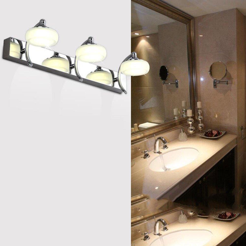 FEI LED Badezimmerspiegel Licht Edelstahl-Doppel-Kopf drei LED-Scheinwerfer Moderne Bad-Spiegel Spiegel Schrank Wandleuchte Kosmetikspiegel (30cm-10W, 45cm-15W) Wandleuchte
