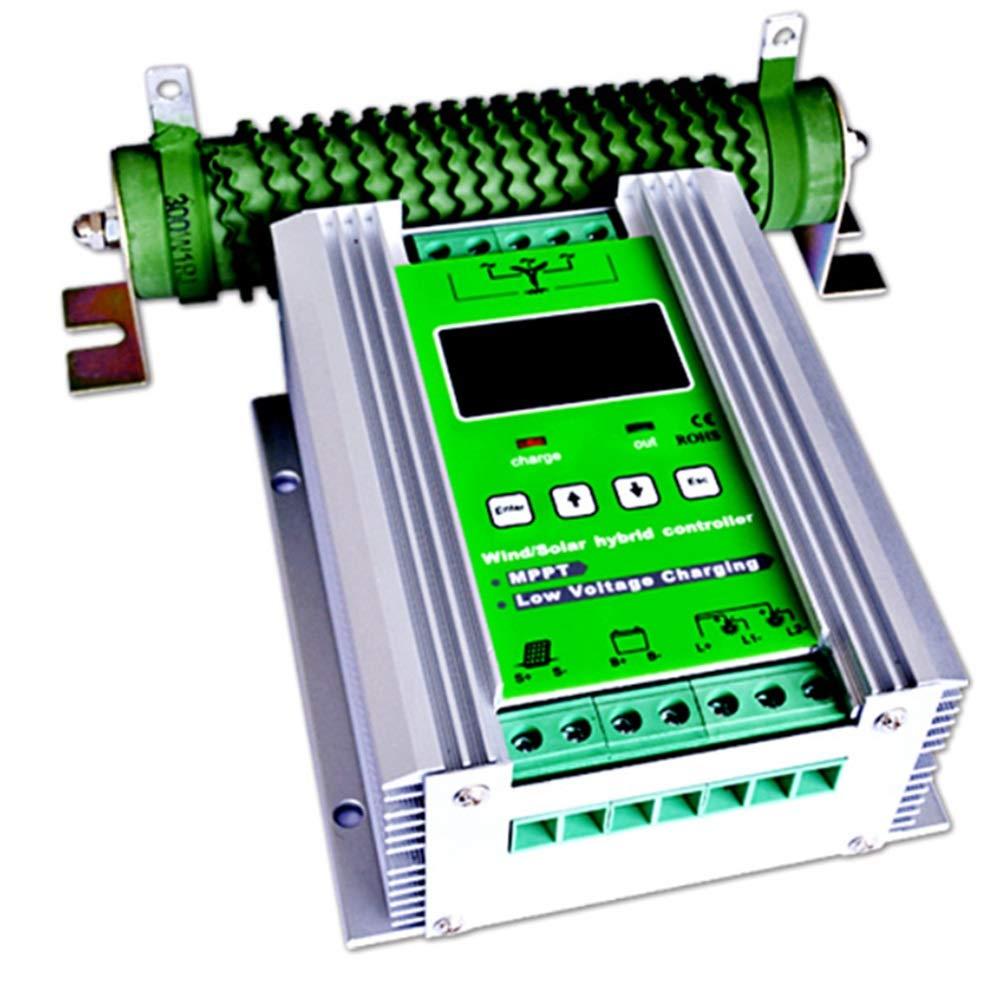 ソーラーパネル用 チャージコントローラー 1200W MPPT ソーラーチャージャー コントローラ 800W風力タービン 400W太陽光電池 充電コントローラ 12V/24V 自動ブースト 過負荷保護 B07P8198C8