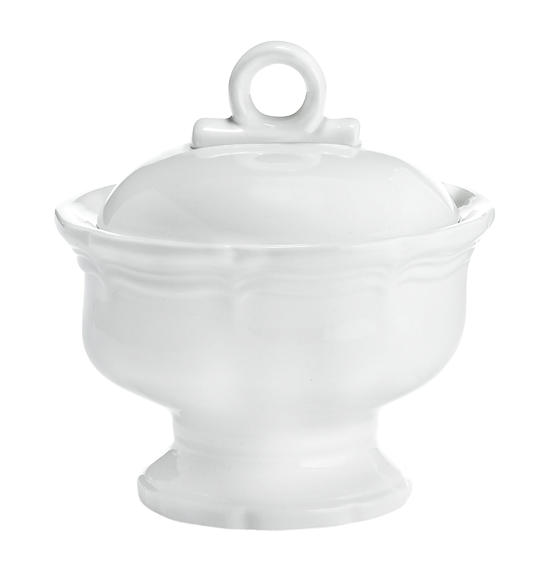 Mikasa French Countryside Covered Sugar Bowl, White