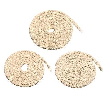 RanDal Cuerda De Macramé De 4/5/6 Mm, Cuerda De Cordón Trenzada De Algodón Beige Natural, Pulsera Artesanal De Bricolaje - 4 Mm: Amazon.es: Industria, empresas y ciencia