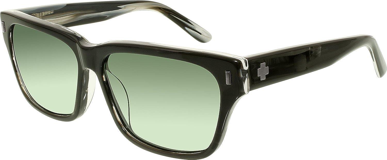 022959ef44da3 Spy Tele Black Horn Happy Gray Green Sunglasses  Spy  Amazon.co.uk  Clothing