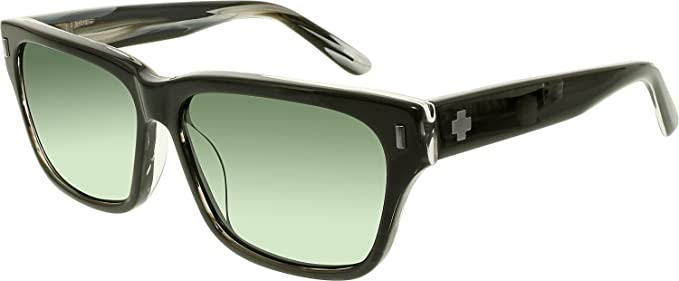 c45ead64a0 Spy Tele Black Horn Happy Gray Green Sunglasses  Spy  Amazon.co.uk ...