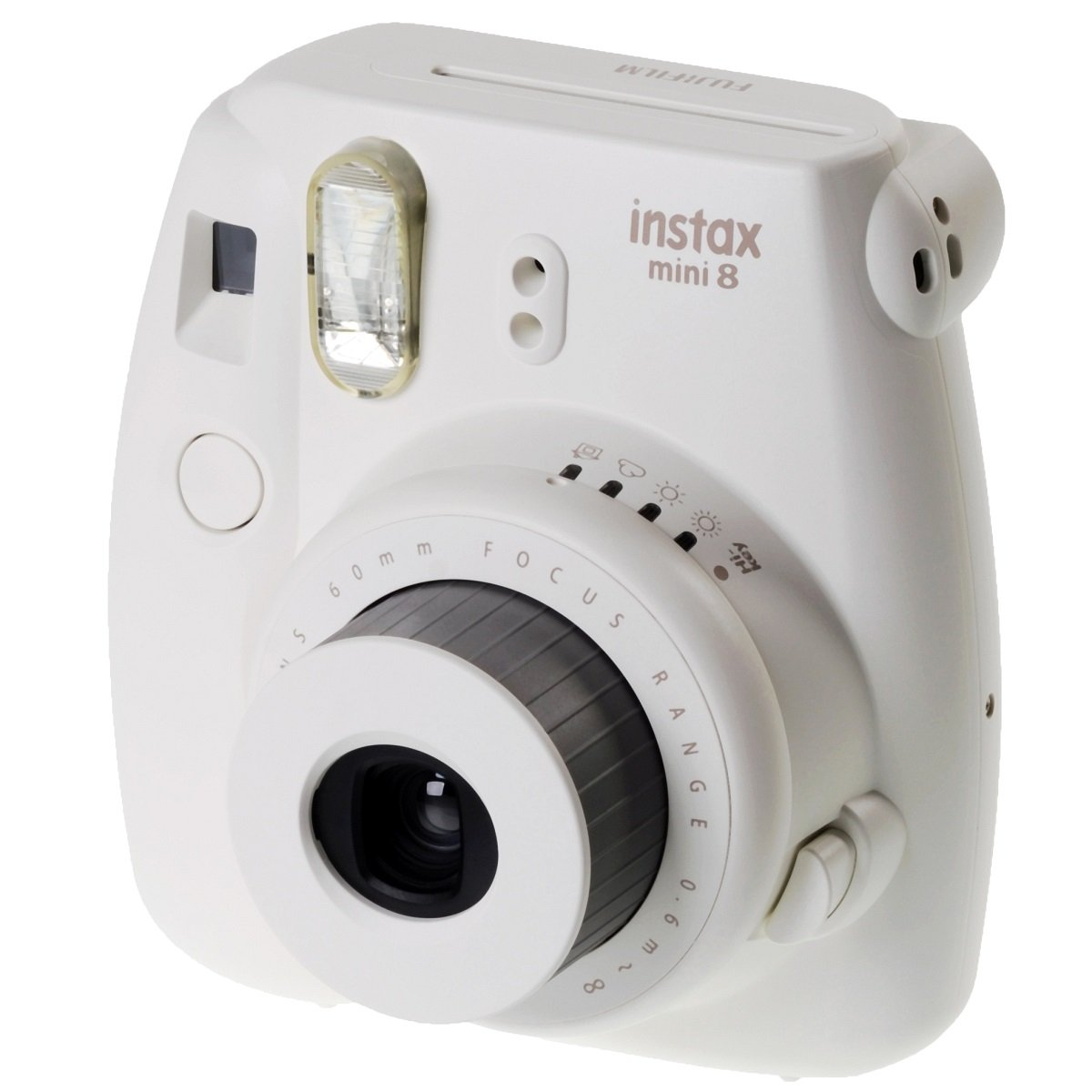 fuji instax mini 8 instant photo camera white instant pictures in seconds new ebay. Black Bedroom Furniture Sets. Home Design Ideas