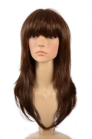 Hair By MissTresses Dark Brown Long Layered Face Framing Wig/Salon ...