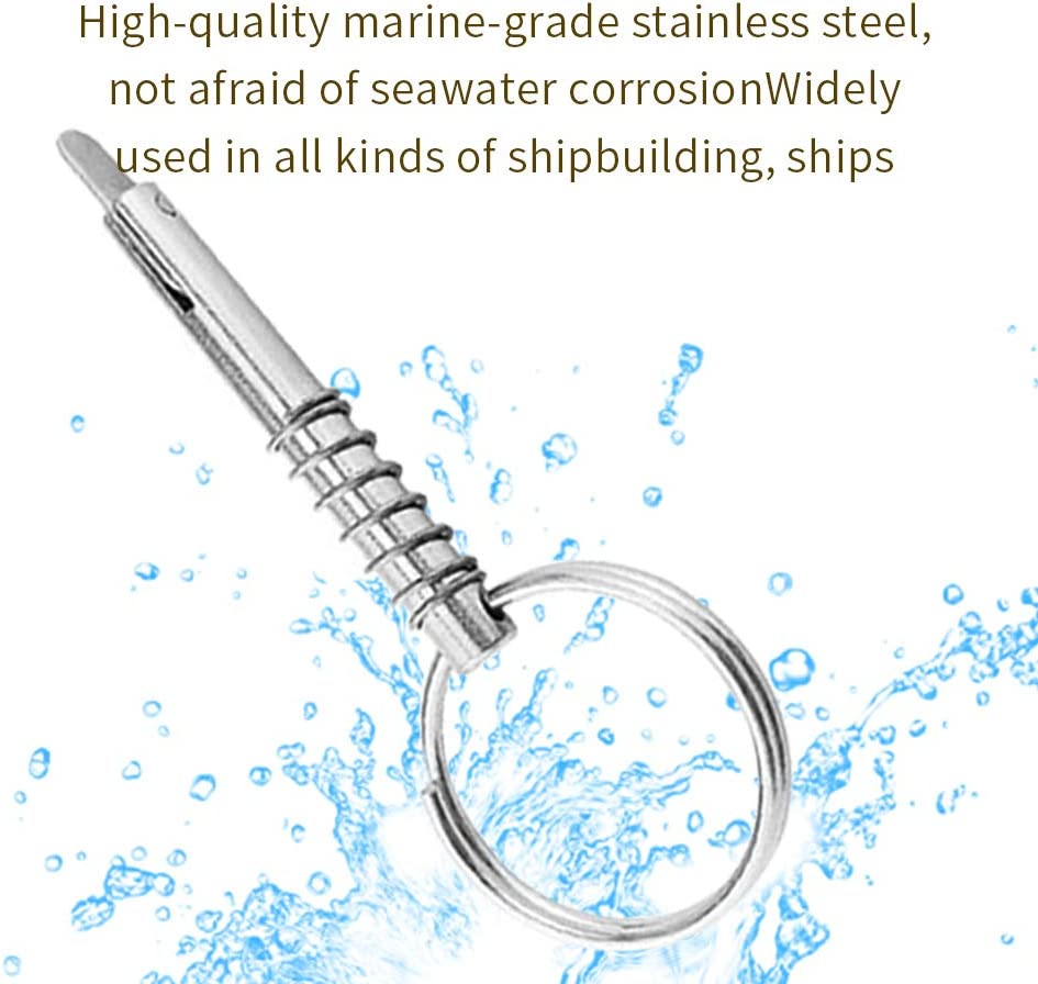 OxoxO KingBra 2pcs 1//4 Diameter Quick Release Pin Overall Length 76mm Full 316 Stainless Steel Boat Bimini Top Pin,Marine Hardware Deck Hinge Boats Accessories