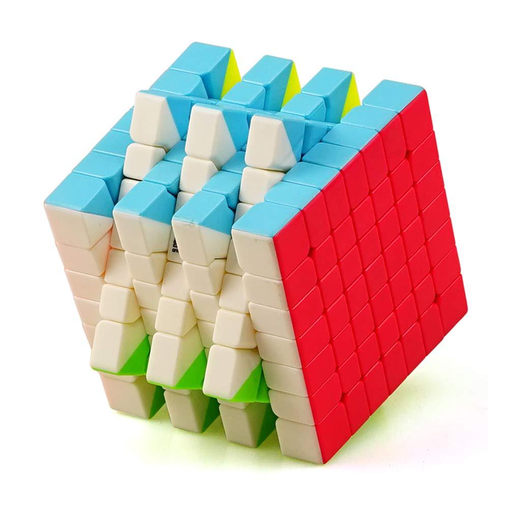 JIAAE 7X7 Zauberwürfel Professional Competition Glatte Rubik Kinder Puzzle Hohe Schwierigkeitsgrad Spielzeug, Black