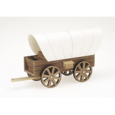 Darice 9181-24 Wooden Model, Cover Wagon Kit, 8.5 x 4.5-Inches: Arts, Crafts & Sewing