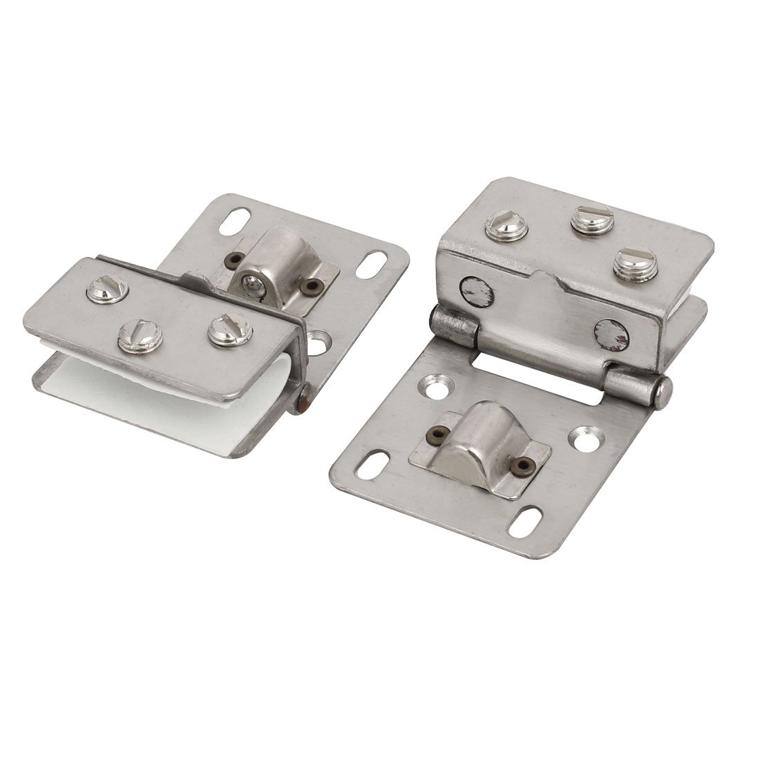 uxcell 2pcs Door Clip Clamp Support Bracket Catch Hinges for 4.5mm-9mm Thickness Glass