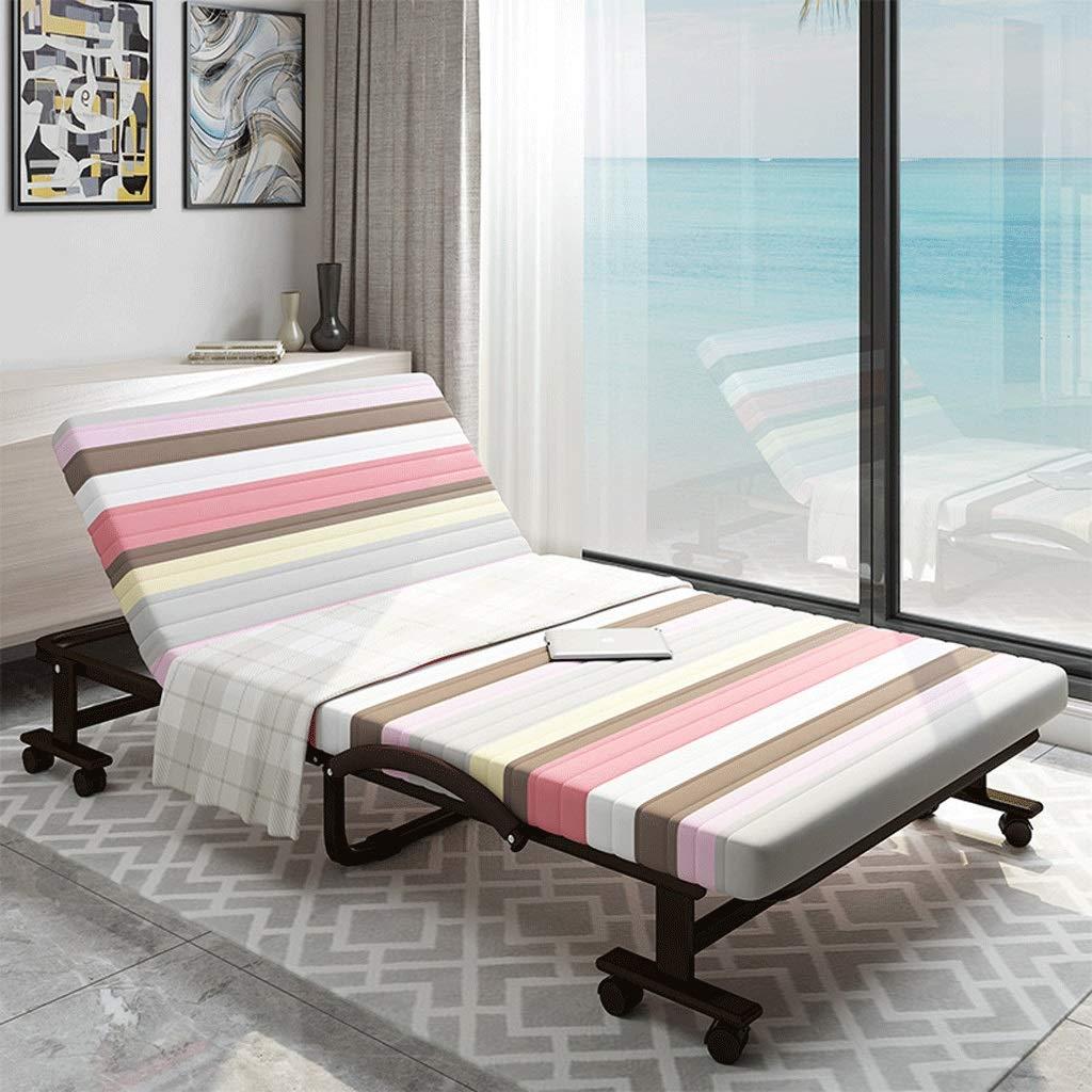 Klappbett Einzel Doppel Büro Schlafzimmer Mittagspause Nickerchen Kindermädchen Metallbett (Color : A9, Size : 60cm Wide)