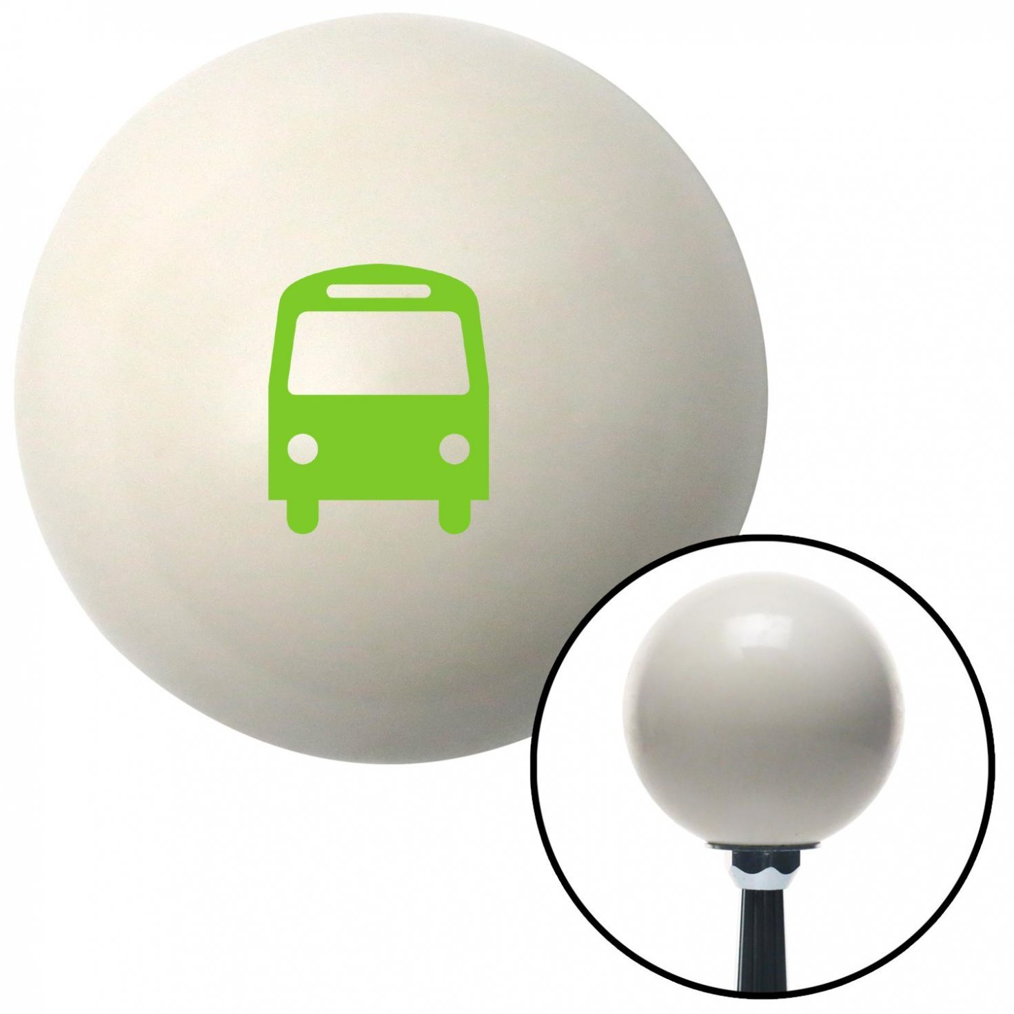 American Shifter 34511 Ivory Shift Knob with 16mm x 1.5 Insert Green Bus