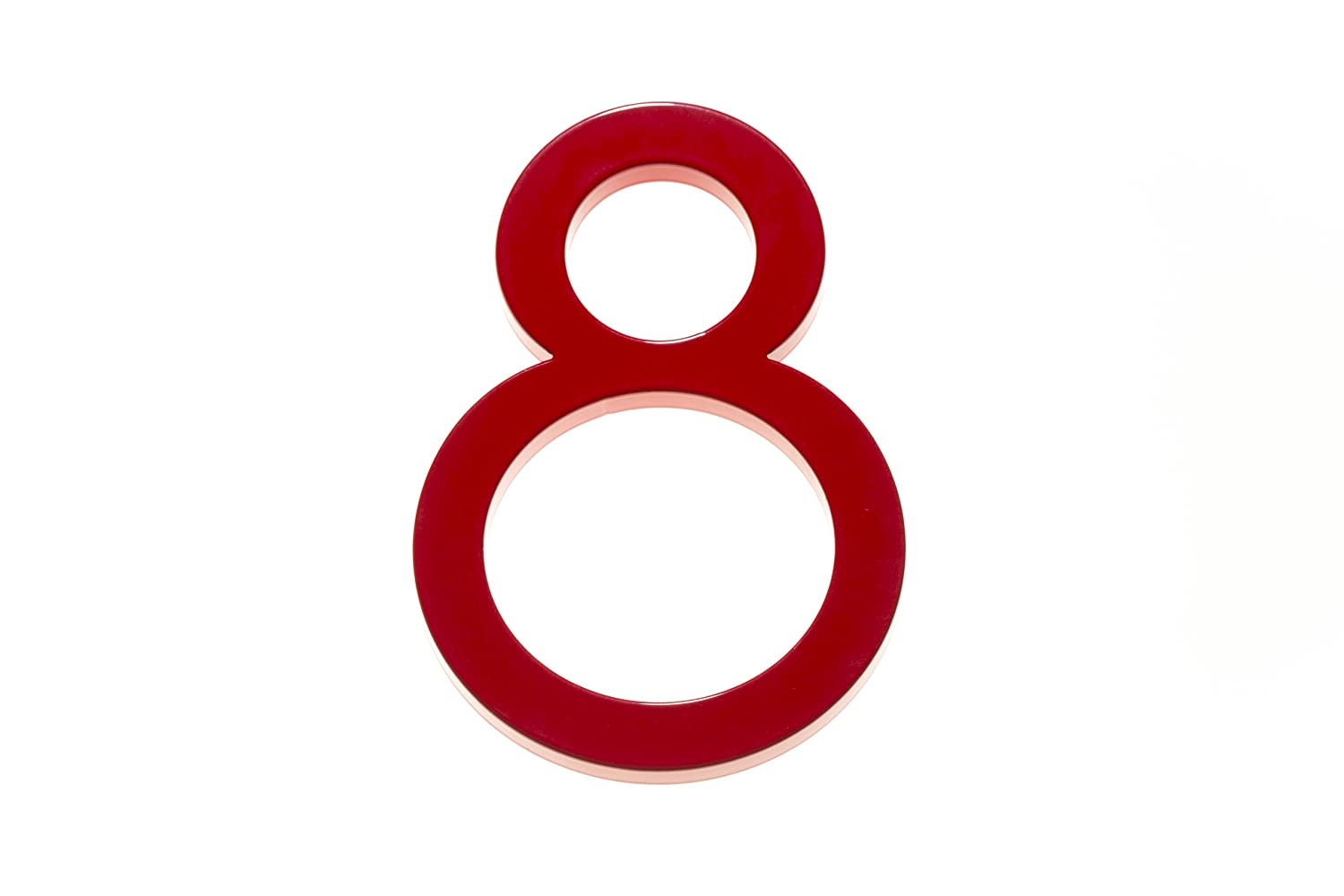 Amazon com modern house number red color aluminum modern font number eight 8 6 inch address plaques garden outdoor