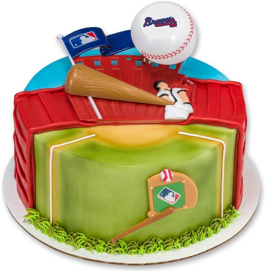 Pleasant Mlb Atlanta Braves Cake Dec Kit Amazon Ca Home Kitchen Funny Birthday Cards Online Necthendildamsfinfo