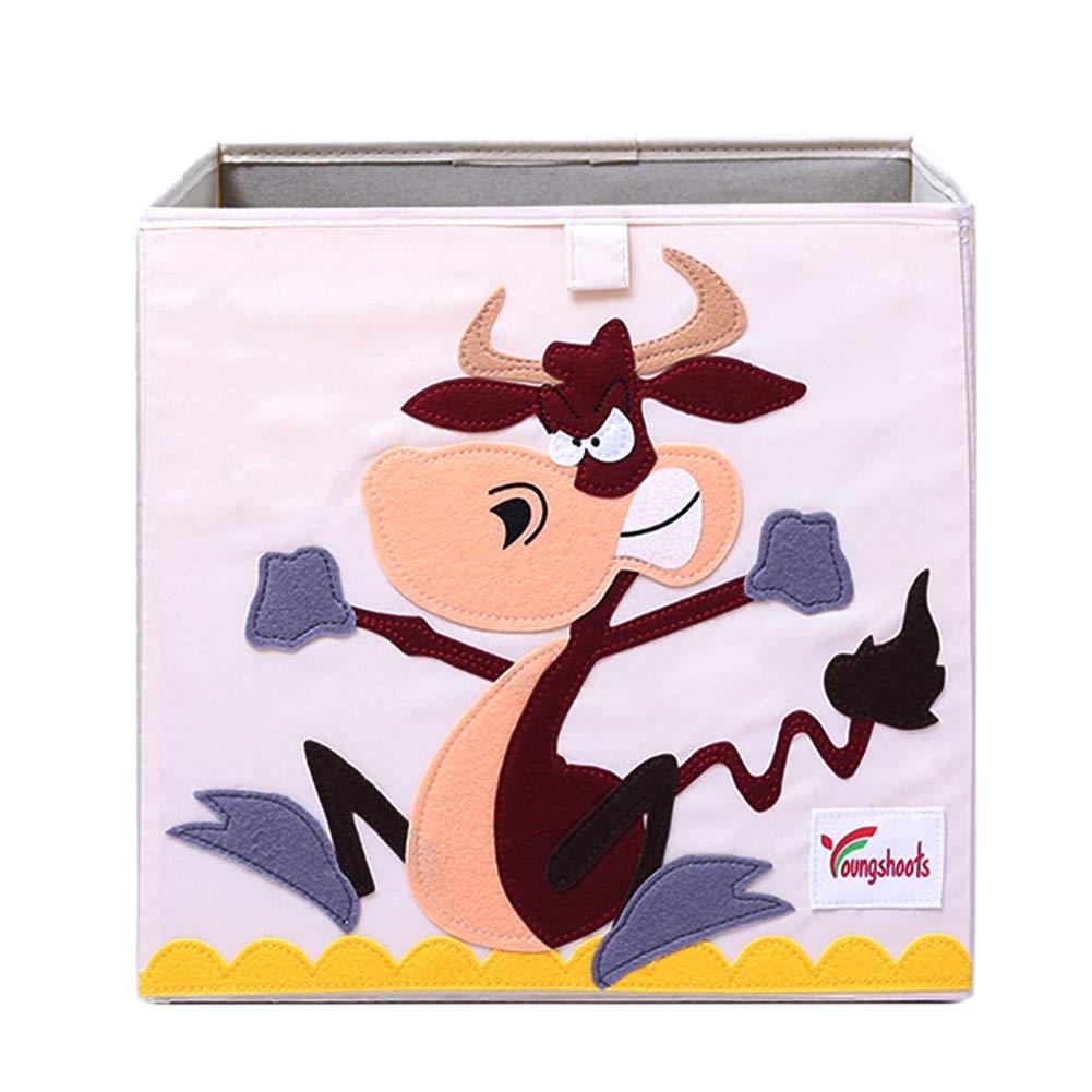 Hihey Textile bo/îte Pliante bo/îte de Jeu bo/îte /à Motifs danimaux Grenouille Monkey Coffre-Fort de Stockage de Vache Hibou pour Jouet Pliable