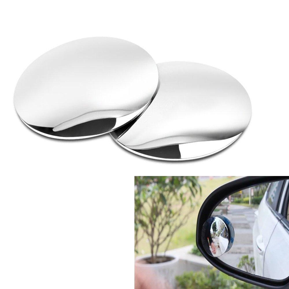 Haosen 2 pezzi Auto cieco specchio Auto specchietto retrovisore - Specchietti per angolo morto 360 Grandangolare Regolabile, Ad alta definizione vetro doppio uso specchio rotondo