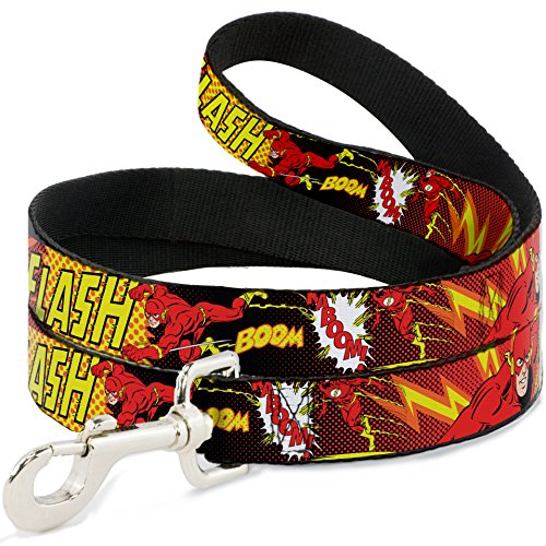 "Buckle-Down Wide 1.5"" ""The Flash Boom Kaboom!"" Dog Leash, 4'"