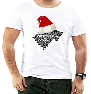 3606b6e82 Christmas is Coming Stark Game of Thrones Funny Men T Shirt Comic Design  Birthday (XXX-Large, White): Amazon.co.uk: Clothing